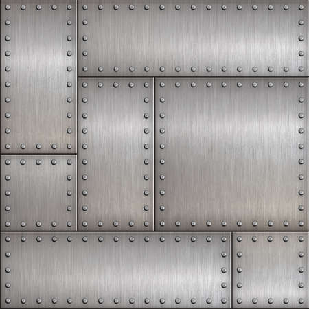 steampunk metal background 3d illustration