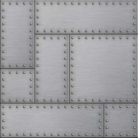 armor plates metal background 3d illustration