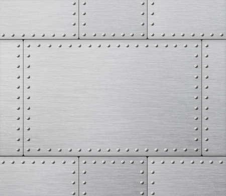 armor plates industrial metal background 3d illustration Imagens