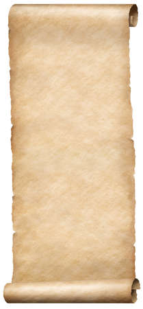 Vertical narrow old paper fantasy style scroll isolated Imagens
