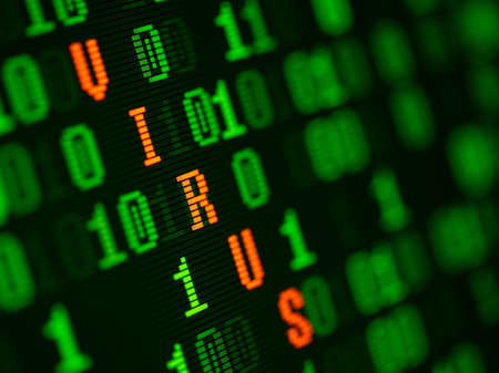 Virus found in binary data