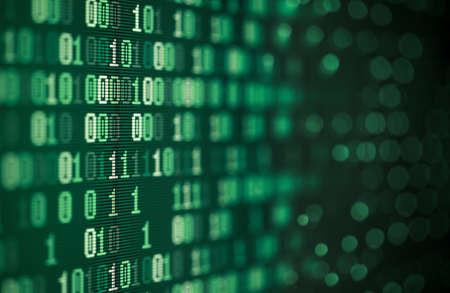 computer binary data abstract technology background Reklamní fotografie