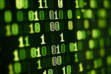 binary computer data abstract technology shot