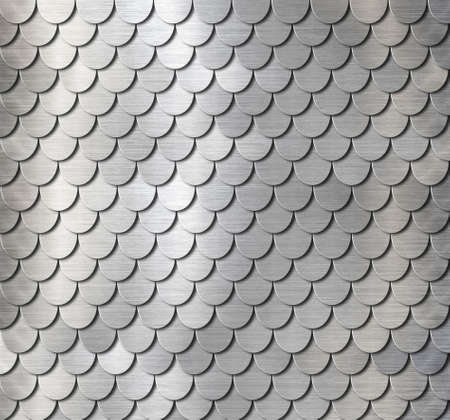 metal fish scales knight armor background 3d illustration