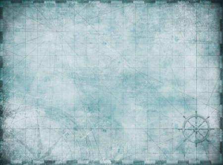 old blue blank treasure map background Reklamní fotografie