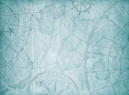 blue old abstract map background.