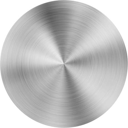 Metal radial polished textured round plaque or plate