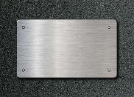 metal plaque or plate with rivets 3d illustration Reklamní fotografie