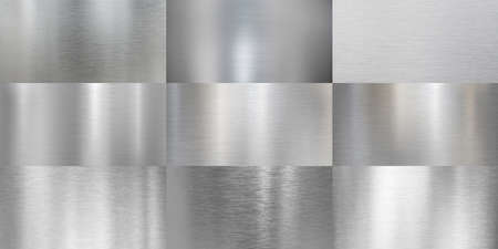 brushed or polished metal textures aluminum collection