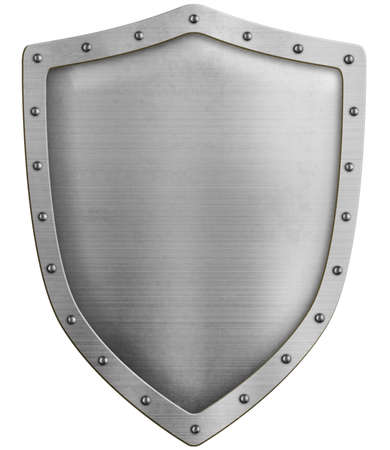 Metal classical shield isolated 3d illustration