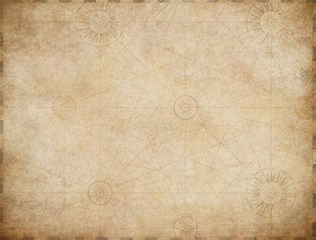 old nautical pirates treasure map background Standard-Bild