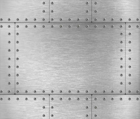 metal plates industrial background 3d illustration Standard-Bild