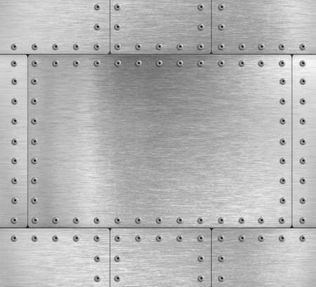 armor plates industrial metal background 3d illustration Standard-Bild
