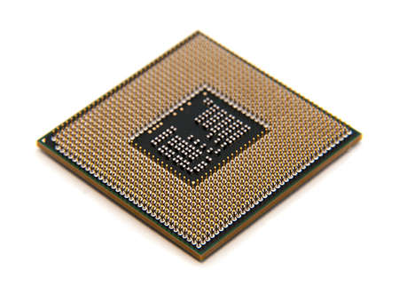 the multinuclear processors. modern computer processor isolated
