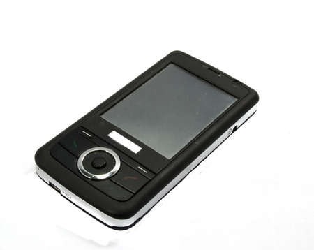 picture black cell mobile phone. white background photo