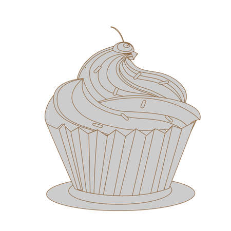 torta panna: torta di crema con rosa ciliegia