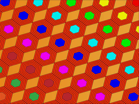 hexagonal shaped: vector diagonal background of hexagons
