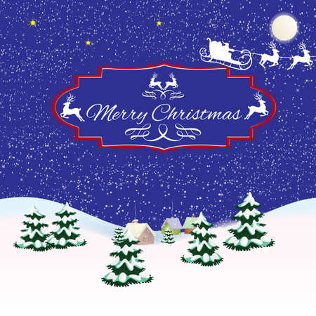st  nick: Christmas picture with Christmas trees, Santa Claus and gifts under Christmas trees.