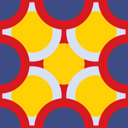 seamless pattern of overlapping colored circles.  Vector