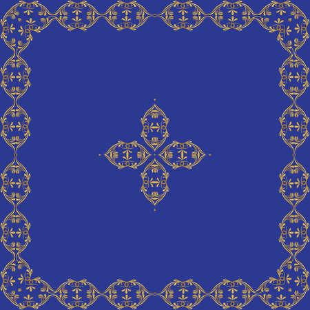 quadratic: Marco del vector con el elemento decorativo en el Centro Vectores