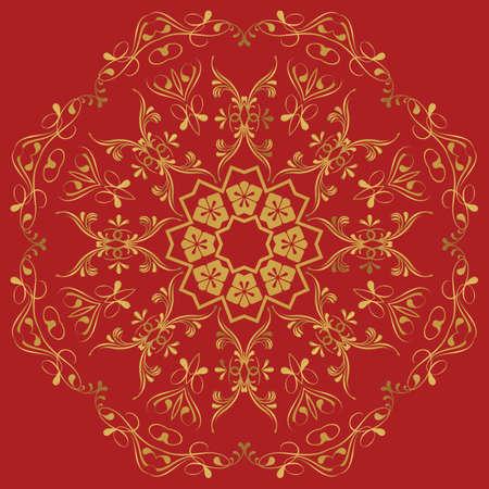 Abstract circular pattern. arabic symbols and design elements. Vector