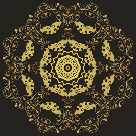 Abstract circular pattern design mandala style. Round Mandala. Vector Vector