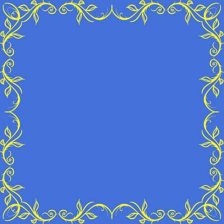 quadratic: Border con elementi decorativi. Vector. elemento decorativo