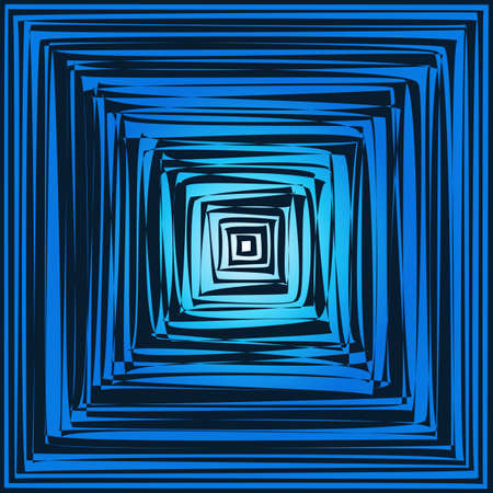 hypnotist: geometric optical illusion. vector art geometric background Illustration