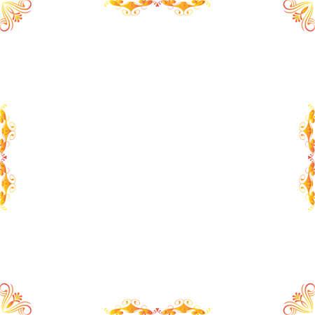 women subtle: Border with decorative elements. Vector.  decorative element Illustration