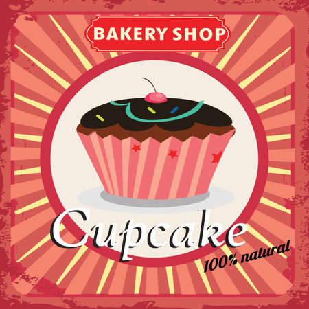 Cake Bakery label with a white circle Vector