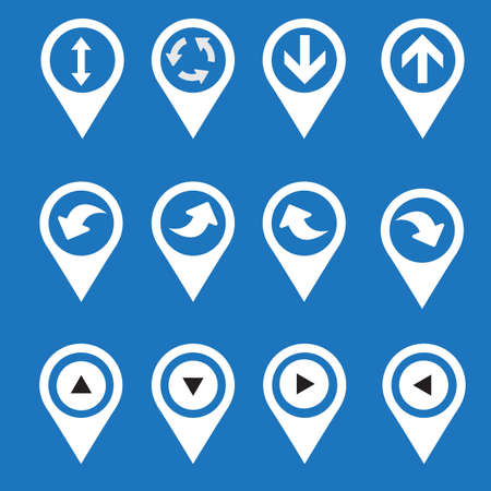navigation icons: set of navigation icons with arrows. Vector