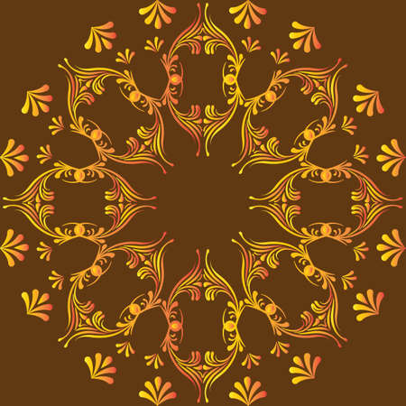 circular abstract pattern in Arabic style.  Vector Vector