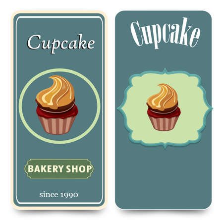 cupcake illustration: menu template with cupcake vector illustration cupcake dessert