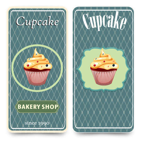 cupcake: menu template with cupcake vector illustration cupcake dessert