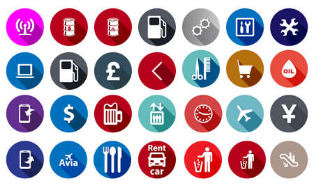 Icons for service in a flat style. Vector Vector