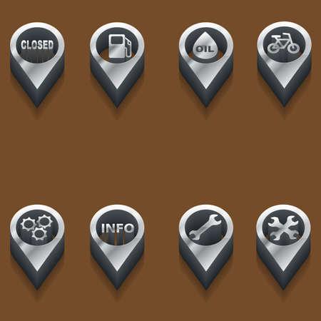 interface menu tool: set of isometric icons automotive and car theme Illustration