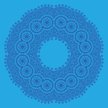 ethnicity: Ornamental colorful round floral ethnicity. Vector ornament