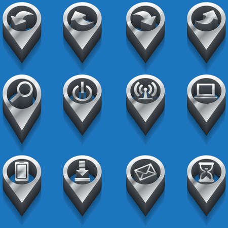 pont: set of computer icons in isometric. vector
