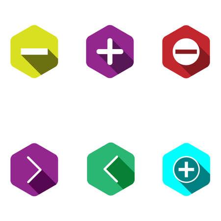 signos matematicos: Los iconos con signos matemáticos. estilo plano