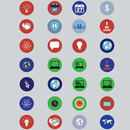 bisiness: set of icons with bisiness elements in flat design