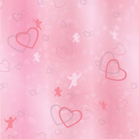 congratulatory: Congratulatory background of Valentines day. Blurred background with hearts