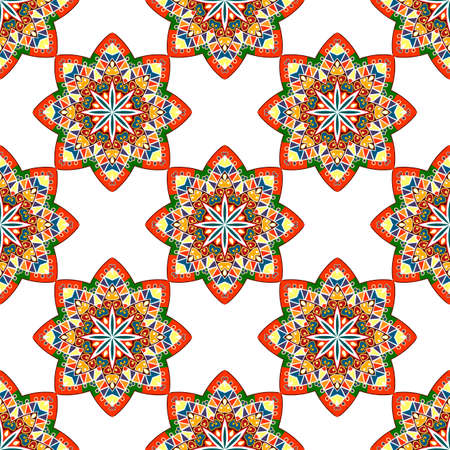 seamless: abstract seamless colorful ethnic pattern. seamless background Illustration