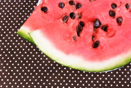 Cut into pieces of ripe red watermelon Stock Photo