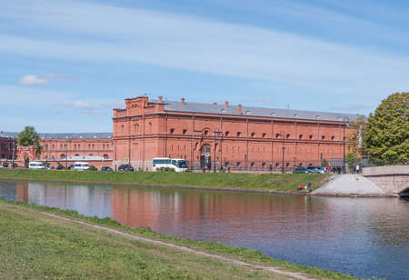 St. Petersburg, Russia - May 27, 2017: The building of the Military History Museum of Artillery. Former building of the shop in Saint Petersburg, Russia