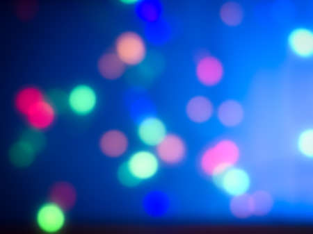 Abstract blue blurred background with bokeh
