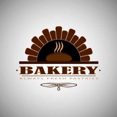 ロゴやパンやパン屋の店のバッジ