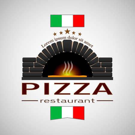 Logo pizza restaurant eps10