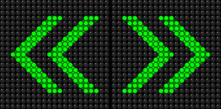 Chevron left right green