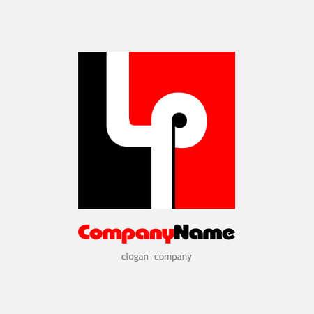 Logo lp red black