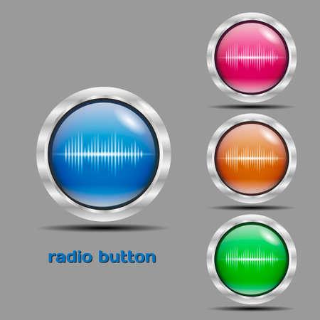 fm: Button fm radio color
